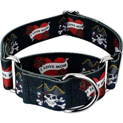 Country Brook Petz® 2 Inch I Love Mom Martingale Dog Collar