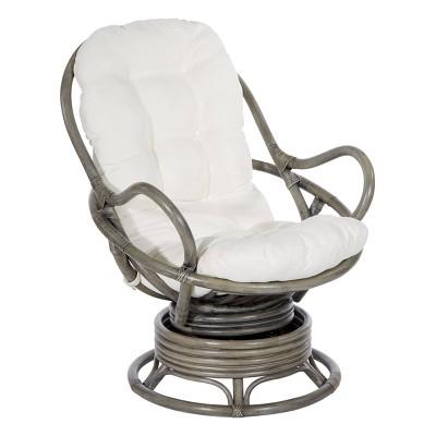 Tahiti Rattan Swivel Rocker Chair - OSP Home Furnishings