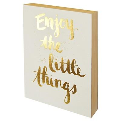 Enjoy the Little Things Wood Flushmount (8 x10 )