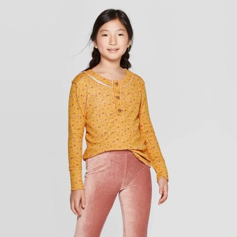 Girls' Long Sleeve Knit T-Shirt - art class™ - image 1 of 3