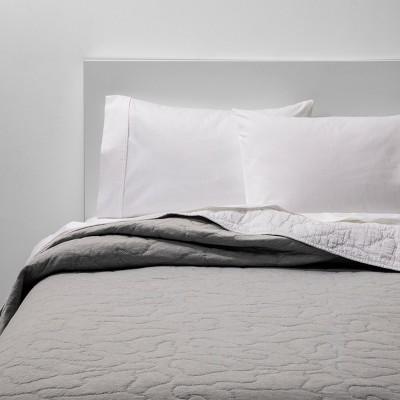 Twin Jersey Quilt Gray - Pillowfort™