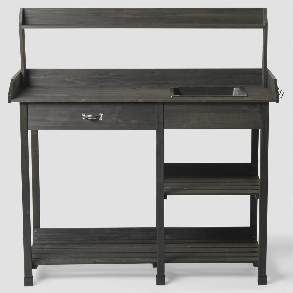 46 Potting Steel Bench Brown - Bloom