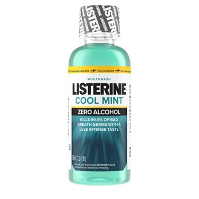 Listerine Coolmint Zero Alcohol Mouth Wash - Trial Size - 95ml
