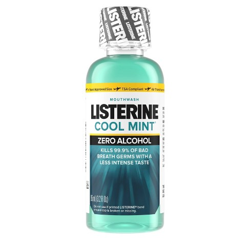 Listerine Coolmint Zero Alcohol Mouth Wash - Trial Size - 95ml - image 1 of 4