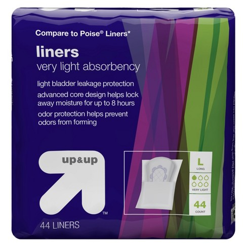 Panty Liners - Very Light Absorbency - Long - 44ct - Up&Up™ (Compare to Poise Liners) - image 1 of 1