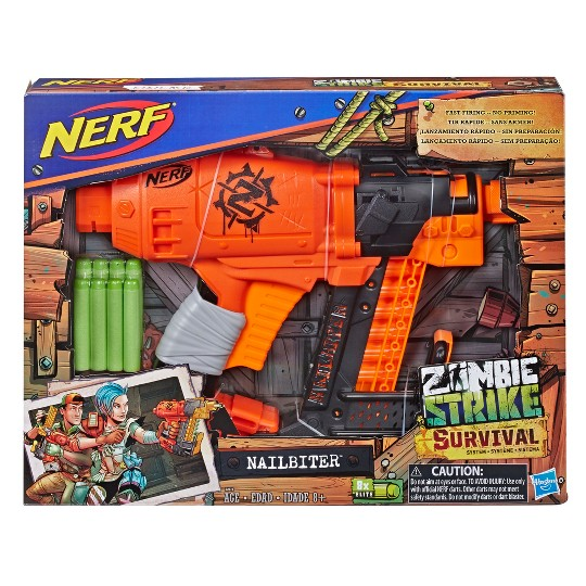 NERF Zombie Strike Survival System Nailbiter Blaster image number null