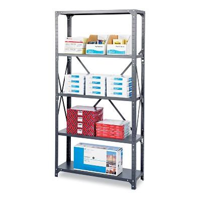 Safco Commercial Steel Shelving Unit Five-Shelf 36w x 12d x 75h Dark Gray 6265