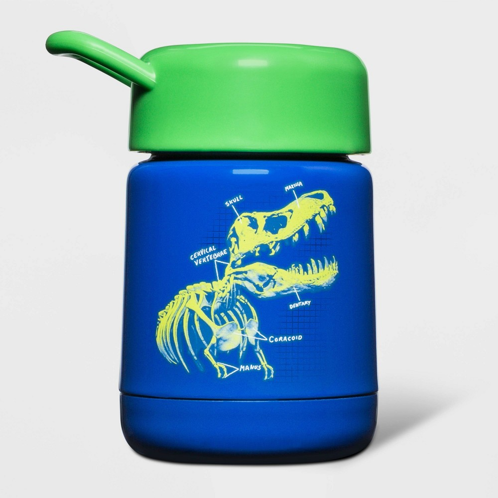 Image of 10oz Stainless Steel Dino Food Storage Container Blue - Cat & Jack