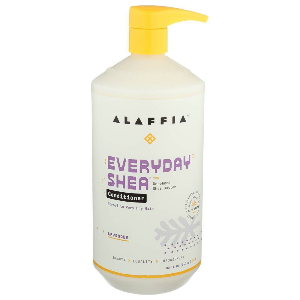 Image of Alaffia Unrefined Shea Butter Lavender Conditioner - 32 fl oz