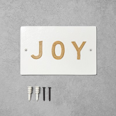 'Joy' Wall Sign White/Gold - Hearth & Hand™ with Magnolia