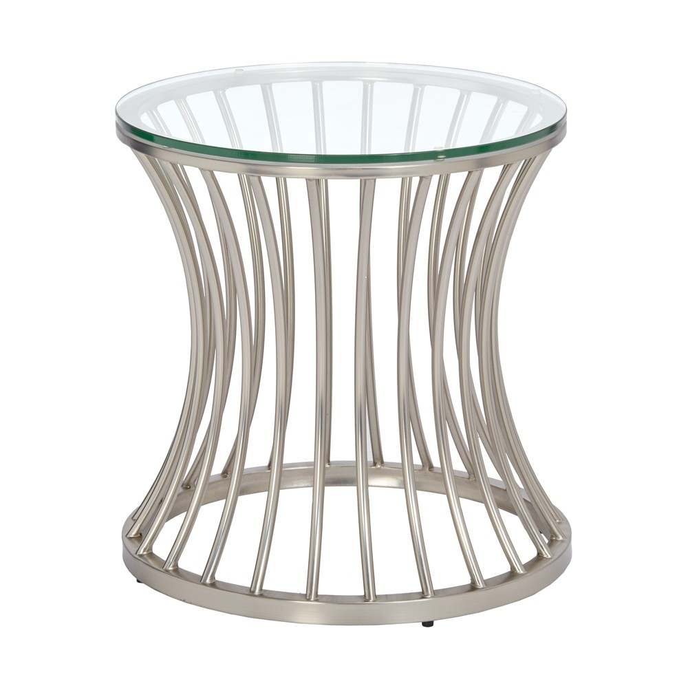 Accent Table Silver, Nickle