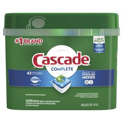 Cascade Complete Actionpacs Fresh Scented  Dishwasher Detergent