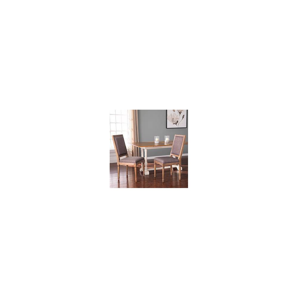 Image of 2pc Earlstan Upholstered Dining Chairs Natural - Aiden Lane