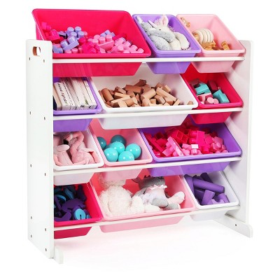 Toy Organizer - Friends Collection - White/Bright Colors - Tot Tutors