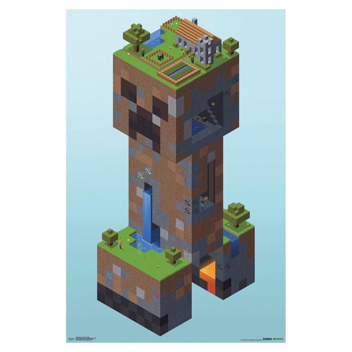 Minecraft Creeper Village Poster 34x22 - Trends International - image 1 of 2