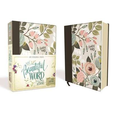 NIV, Beautiful Word Bible, Hardcover, Multi-Color Floral Cloth - by Zondervan