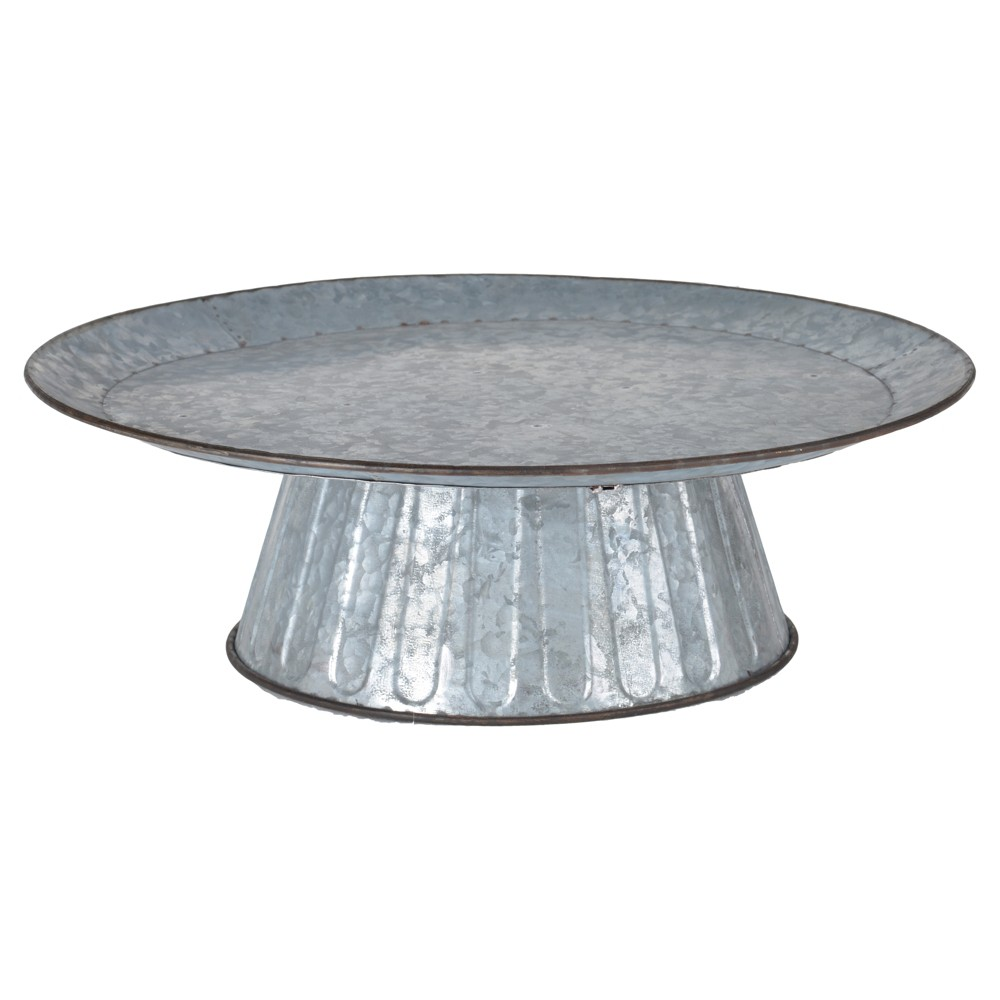 Image of Aluminum Platter - 3R Studios, Silver Gray
