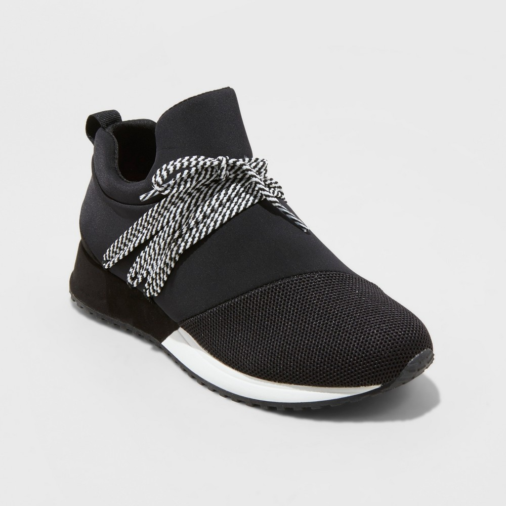 Women's Raquel Slip On Sneakers - A New Day Black 12