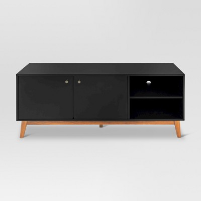58  Amherst Mid Century Modern Two Tone Media Stand Black/Brown - Project 62™