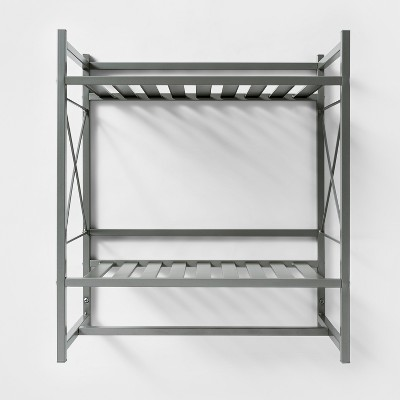 Square Tube Decorative Wall Shelf Brushed Nickel - Threshold™
