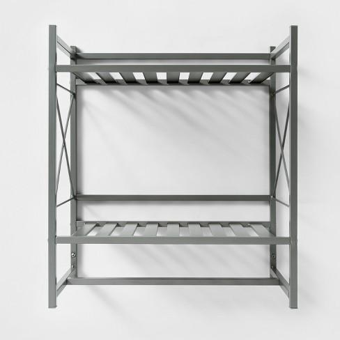 Square Tube Decorative Wall Shelf Brushed Nickel - Threshold™ : Target