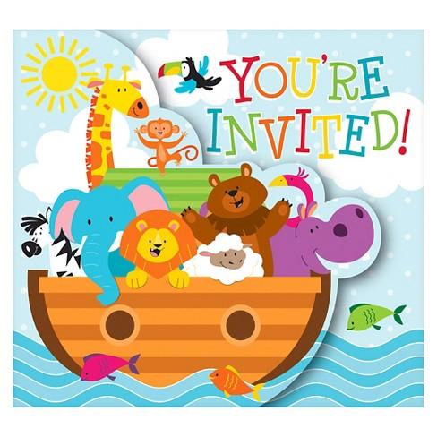 noah s ark invitations 8 pk target