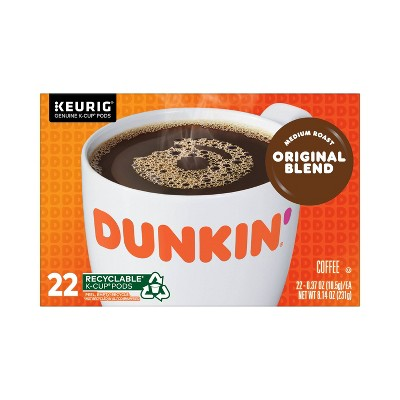 Dunkin' Donuts Original Medium Roast Coffee - Keurig  K-Cup Pods - 22ct
