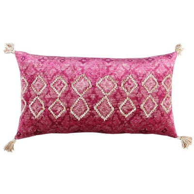 """14""""x26"""" Poly Filled Throw Pillow Pink - Rizzy Home"""