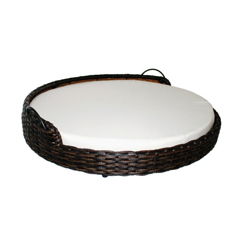 Iconic Beds for Dogs and Cats - Round Basket - Black, Brown