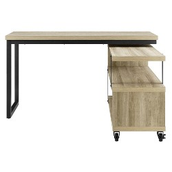 finest selection 85a3c 90068 Hathaway L-Shaped Desk With Lift Top Rustic Gray - Room ...