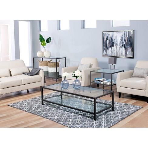 Home Camber Modern Glass Coffee Table 55 Grey Studio Designs