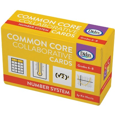 Didax Common Core Number Systems Collaborative Card, 4 L x 6 W in, Grades 6 - 8