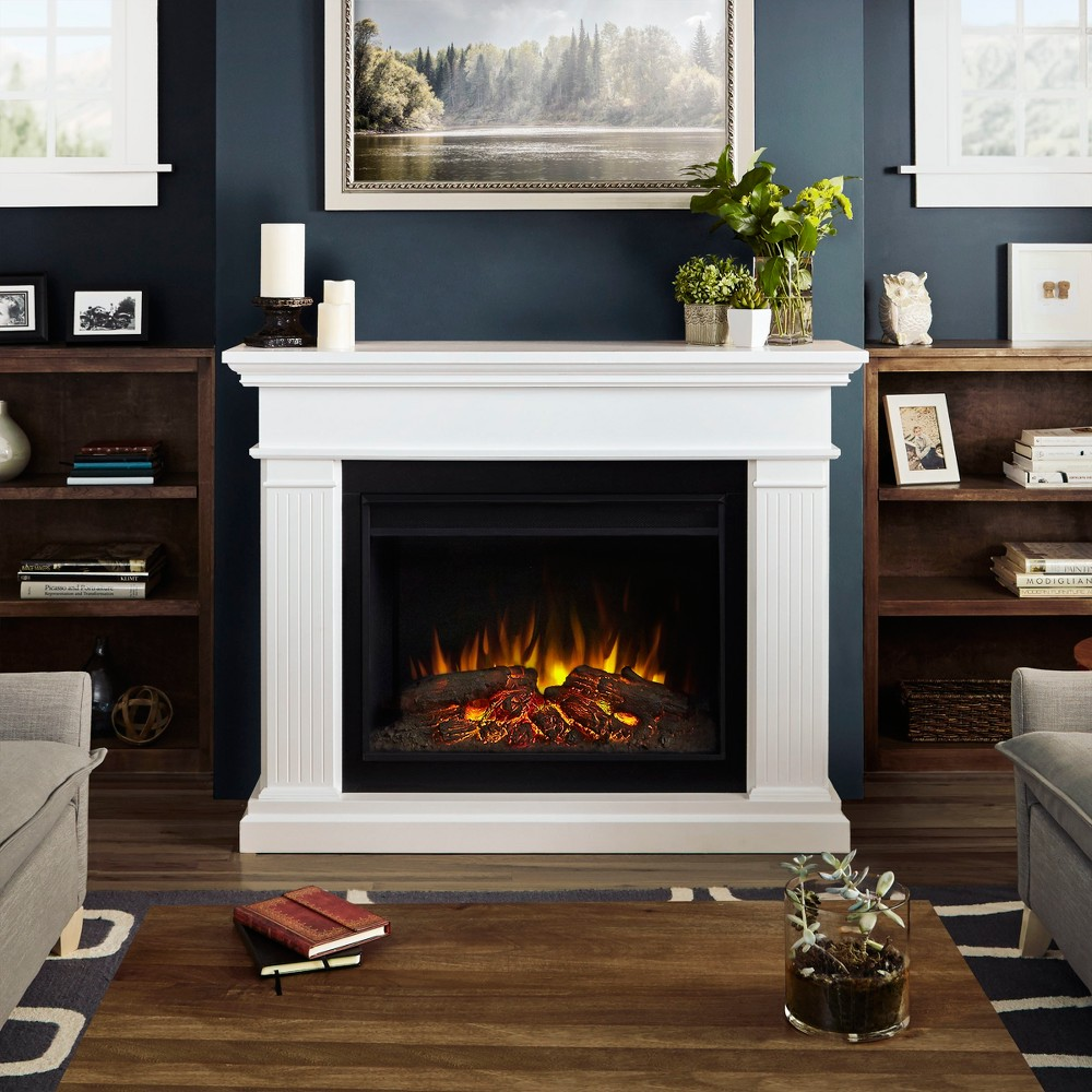 Real Flame - Kennedy Decorative Fireplace - White