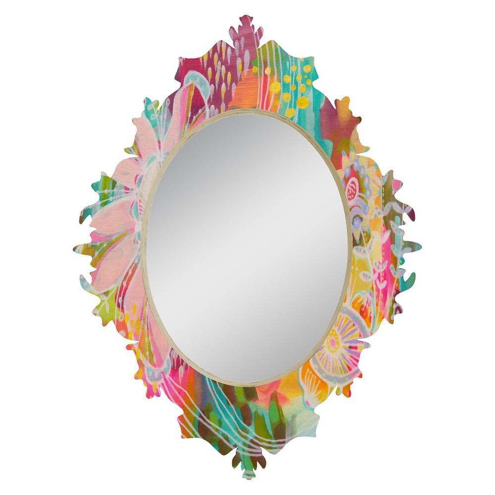 Oval Decorative Wall Mirror - Deny Designs, Multi-Colored