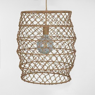 Rope Net Small Pendant Lamp Natural (Includes Energy Efficient Light Bulb) - Project 62™ + Leanne Ford