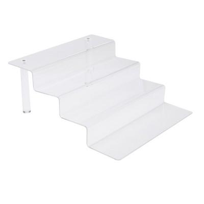 Mind Reader Acrylic 4-Tier Kitchen Cabinet Shelf, Clear