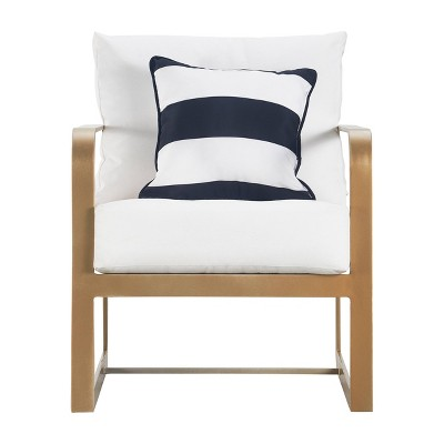 Mirabelle Outdoor Arm Chair - French Gold - Adore Decor