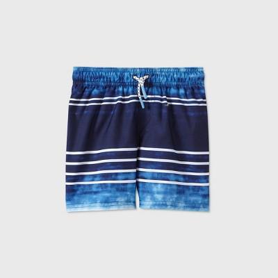 Toddler Boys' Tie-Dye Striped Swim Trunks - Cat & Jack™ Navy