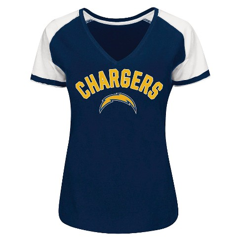 Los Angeles Chargers Women's Raglan V-Neck T-Shirt - image 1 of 1