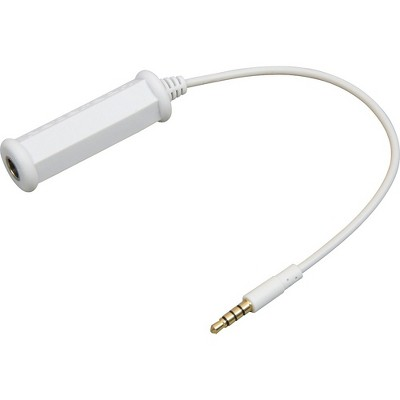 """Peterson 3.5mm - 1/4"""" iPhone/iTouch Adapter Cable White"""