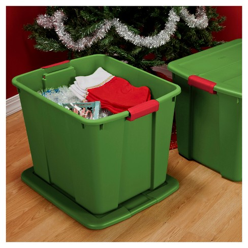 Sterilite® 20 Gal Storage Tote - Holiday Green - image 1 of 2