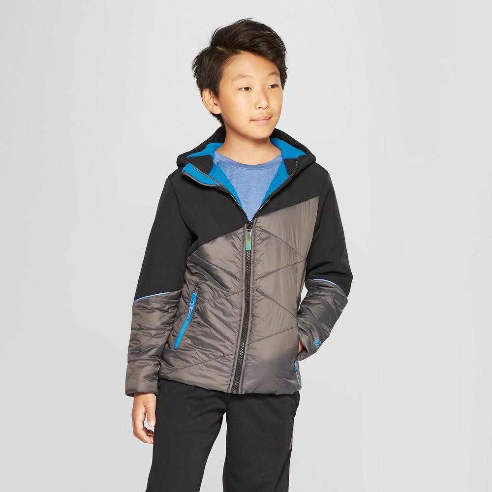 Boys' Hybrid Softshell Jacket - C9 Champion Gray XL, Black