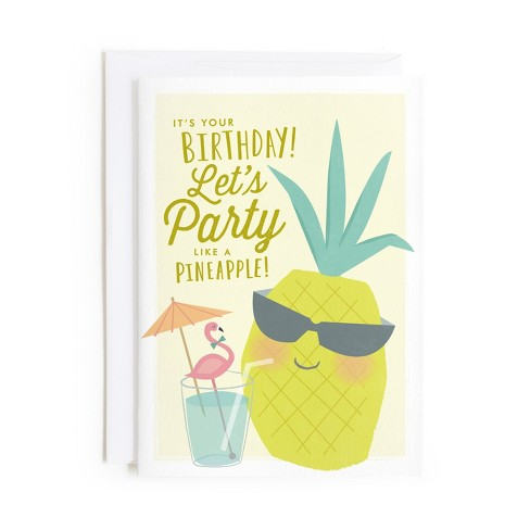 Minted Party Like A Pineapple Card - image 1 of 1