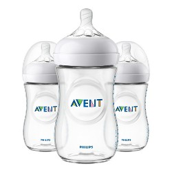 Philips Avent Natural Baby Bottle - Clear - 9oz - 3pk
