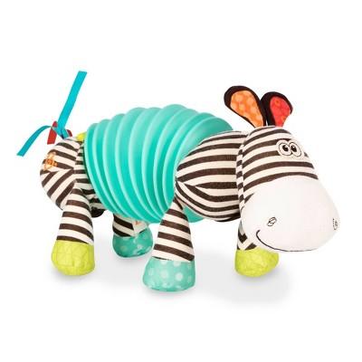B. toys Sensory Zebra Plush - Squeezy Zeeby