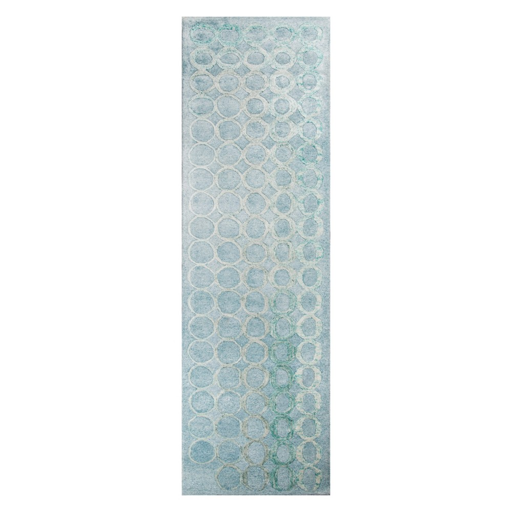 2'3X8' Shapes Tufted Runner Light Blue - Momeni