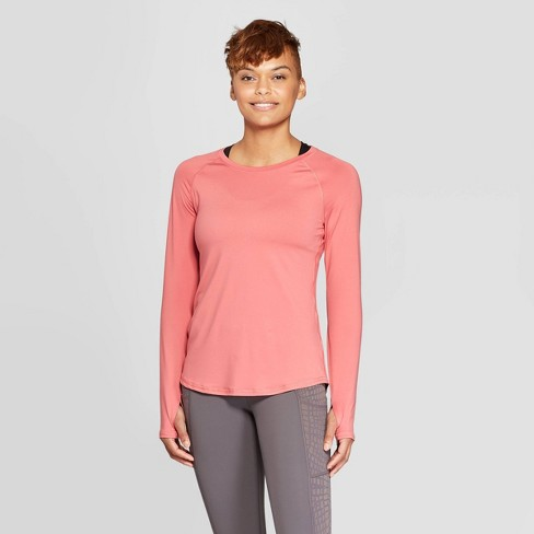90af8be5 Women's Long Sleeve Soft T-Shirt - C9 Champion® Rose Pink XS : Target