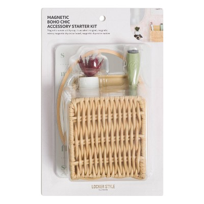 Locker Boho Chic Kit with Woven Cup - U Brands