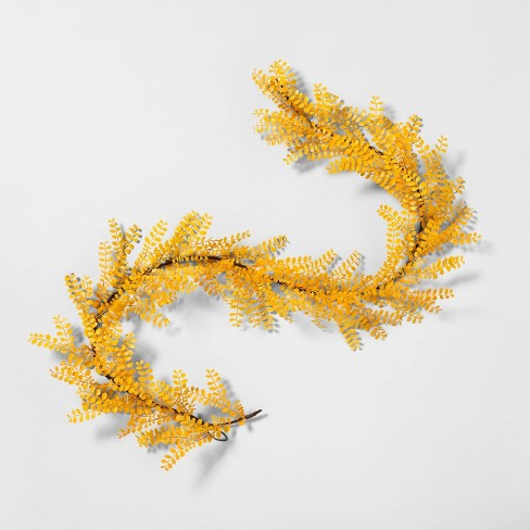 """72"""" Faux Yellow Locust Leaf Garland - Hearth & Hand™ with Magnolia - image 1 of 1"""