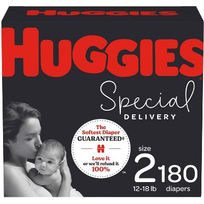 Huggies Special Delivery Hypoallergenic Baby Disposable Diapers - Size 2 - 180ct
